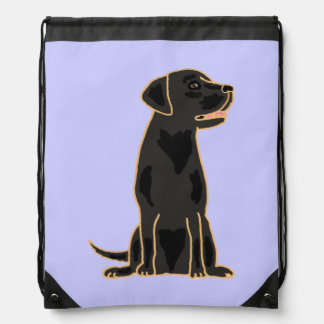 Black Labrador Retriever Art Backpack