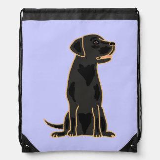 Black Labrador Retriever Art Backpack