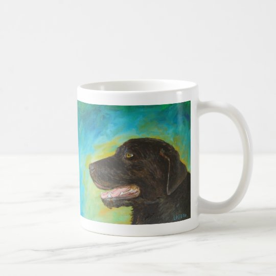 Black Labrador Retriever Art Painting Mug