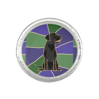 Black Labrador Retriever Art Ring