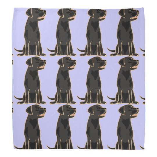 Black Labrador Retriever Bandanna
