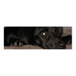 Black Labrador Retriever Bookmark Business Card