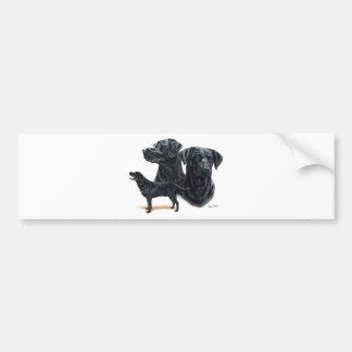 Black Labrador Retriever Bumper Sticker