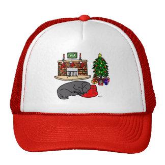 Black Labrador Retriever Christmas Hats