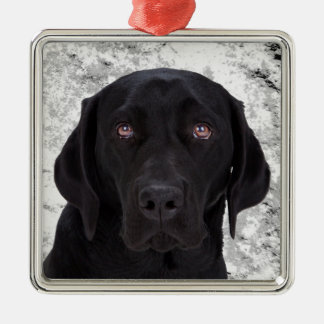 Black Labrador Retriever Christmas Ornament
