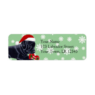 Black Labrador Retriever Christmas Snowflake