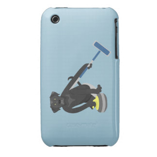 Black Labrador Retriever Curling iPhone3 Case