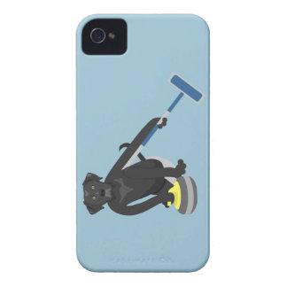 Black Labrador Retriever Curling iPhone 4 Case-Mate Cases