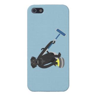 Black Labrador Retriever Curling Case For iPhone 5/5S