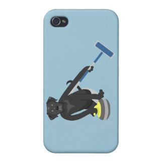 Black Labrador Retriever Curling Covers For iPhone 4