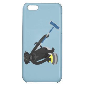 Black Labrador Retriever Curling Cover For iPhone 5C