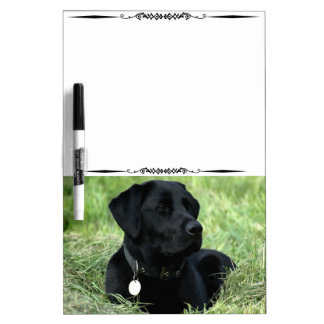 Black Labrador Retriever Decorative Whiteboard Dry-Erase Board