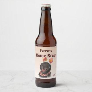 Black Labrador Retriever Dog Beer Label