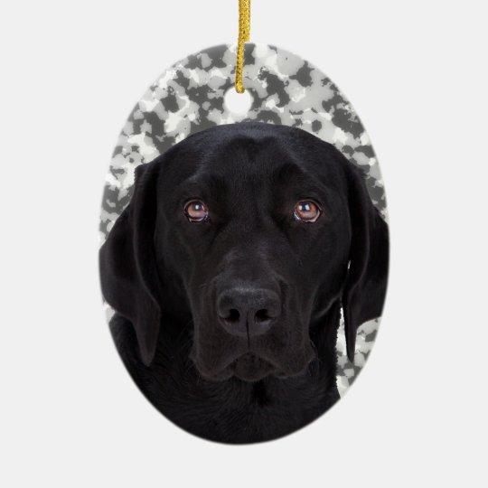 Black Labrador Retriever dog Christmas Ornament | Zazzle.co.uk