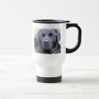 Black Labrador Retriever Dog Plastic Travel Mug