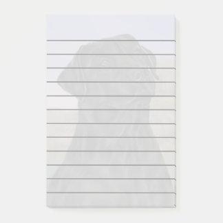 Black Labrador Retriever Dog Print Post-it Notes