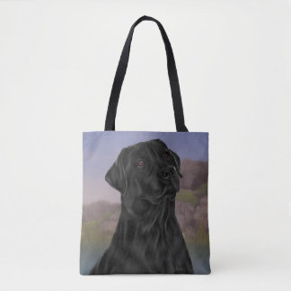 Black Labrador Retriever Dog Tote Bag