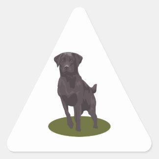 Black Labrador Retriever Dog Triangle Sticker
