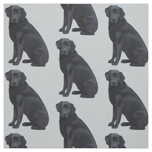 Black Labrador Retriever Fabric