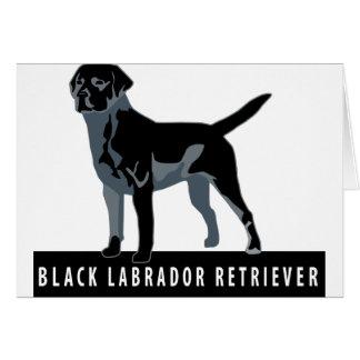 Black Labrador Retriever Greeting Cards