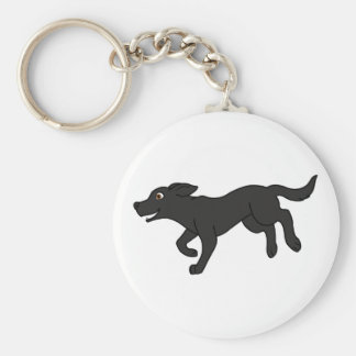 Black Labrador Retriever Key Ring