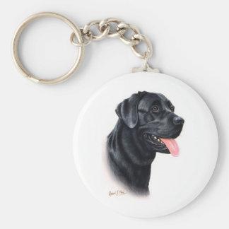 Black Labrador Retriever Key Ring