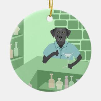 Black Labrador Retriever Martini Bar Ornament