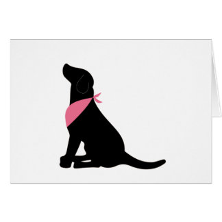 Black Labrador Retriever notecards Card