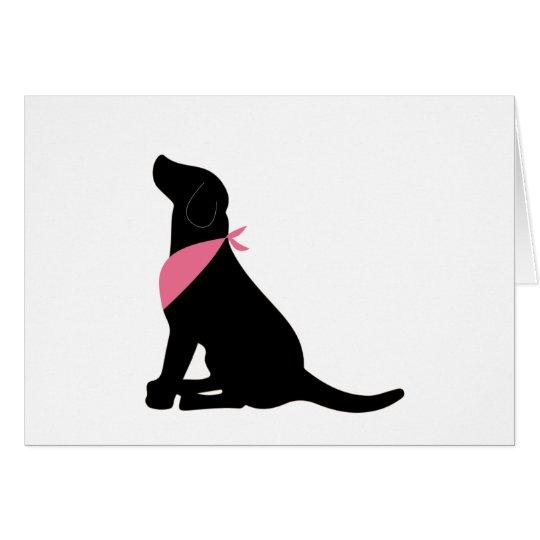 Black Labrador Retriever notecards Card