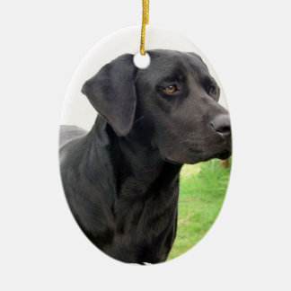 Black Labrador Retriever Ornament