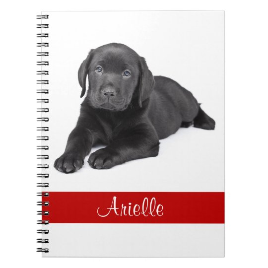 Black Labrador Retriever Personalised Notebook