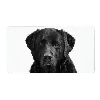Black Labrador Retriever Puppy Dog Shipping Label
