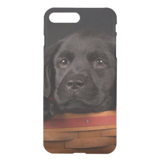 Black labrador retriever puppy in a basket iPhone 8 plus/7 plus case