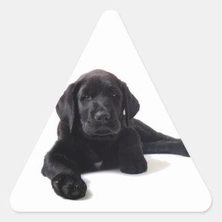 Black Labrador Retriever Puppy Triangle Sticker