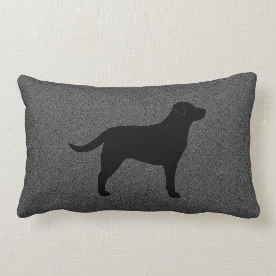 Black Labrador Retriever Silhouette Lumbar Cushion