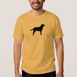 Black Labrador Retriever Silhouette Tees