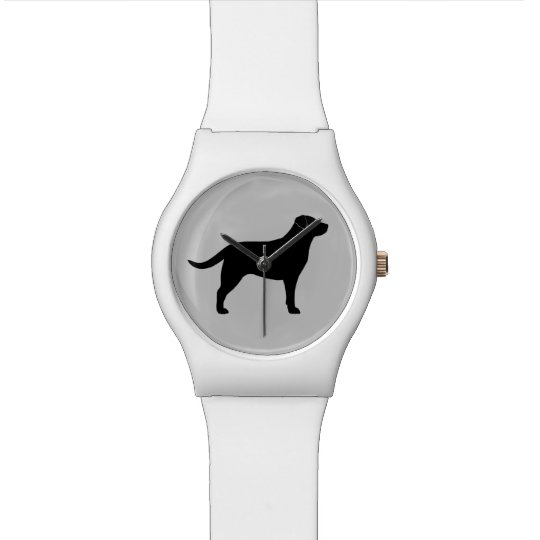 Black Labrador Retriever Silhouette Watch