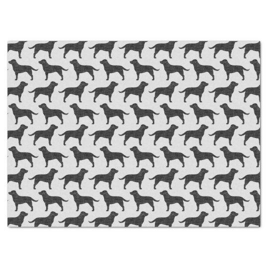 Black Labrador Retriever Silhouettes Pattern Tissue Paper