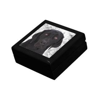 Black Labrador Retriever Small Square Gift Box