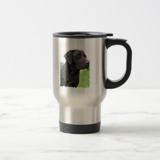 Black Labrador Retriever Stainless Travel Mug