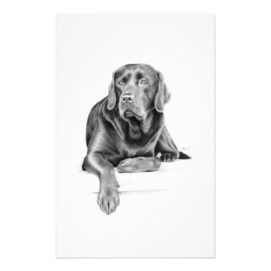 Black Labrador Retriever Stationery