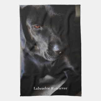 Black Labrador Retriever Tea Towels