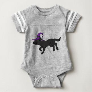 Black Labrador Retriever with Witch Hat Infant Bodysuit