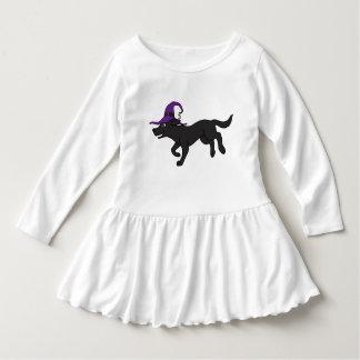 Black Labrador Retriever with Witch Hat T-shirt