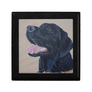 Black Labrador Small Square Gift Box