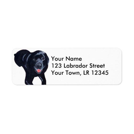 Black Labrador Smiling