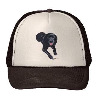 Black Labrador Smiling Trucker Hat