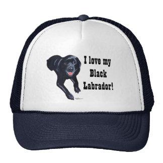 Black Labrador Smiling Cap