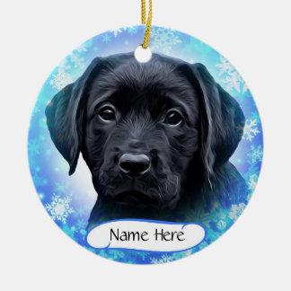 Black Labrador - Snowflake Ceramic Ornament