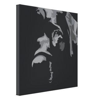 Black Labrador Soulful Eyes Stretched Canvas Prints